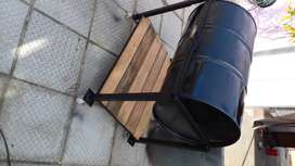 Portable braai stand with fire box