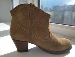 Zara сапоги чоботи шкіра ботинки черевики замшеві напівчеревики замша