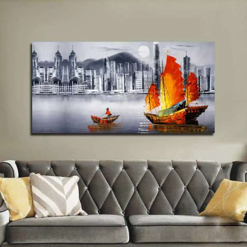 Wall canvas frames art are one panel 0