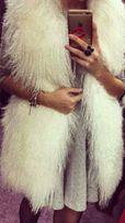Жилетка из меха ламы лама мех жилет меховая