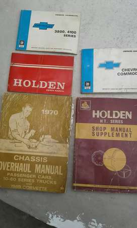 Workshop manuals and owners Handbooks for holden and chev