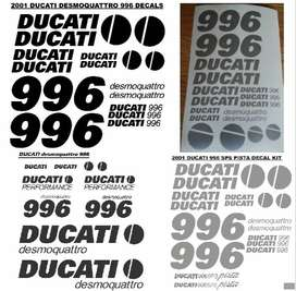 2001 Ducati 996 decals stickers graphics sets