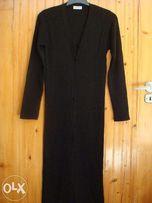 Klockhouse -długi, czarny, zapinany sweter