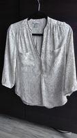 Bluzka koszula damska HM rozm. 36 S biała czarna