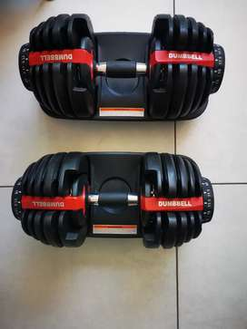 Adjustable Dumbell Set Brand New 2.5kg - 24kg Space Saver