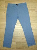 Штаны брюки чиносы Merish голубые 33/32 Пояс 47 см next