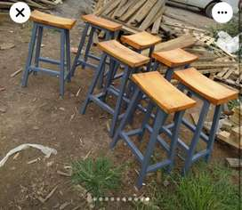 Bar stools and bedside tables
