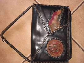 Antique leather handback with historical value