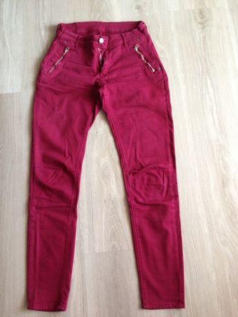 Spodnie bordowe Pępowo - image 1