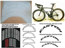 Easton bicycle rim decals stickers kits