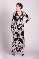 Asos sukienka Boho czarna biała wzory 38 M koronka london kwiaty