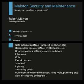 Security, gate and garage, etc