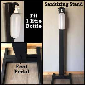 Sanitizing dispenser stands
