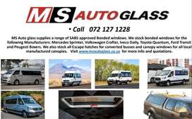 Bonded windows for busses and Taxis