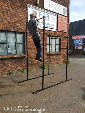 Heavy-duty pull up chin and dip bar for cross fit training