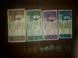 Old South African Coins and notes