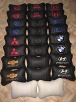 Подушки на подголовник автоподушки вышивка в салон авто на сидушку