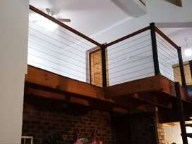 Stainless steel and glass balustrades specials