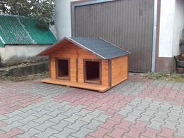 Budy dla dwóch psów Duża XXl ocieplana otwierany dach Buda dla 2 psów