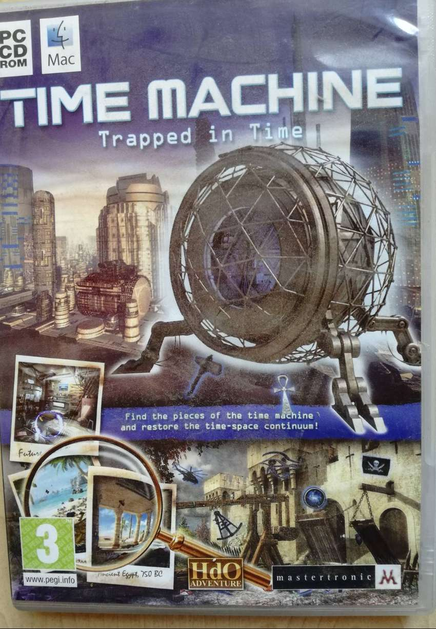 PC CD ROM MAC GAME TIME MACHINE: TRAPPED IN TIME 0