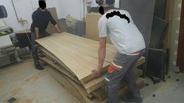 Stół drewno dąb bar drzewo kuchnia blat z drzewa live EDGE Wood loft