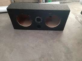 """10"""" subwoofer double box.  Mk1 Golf drop springs"""