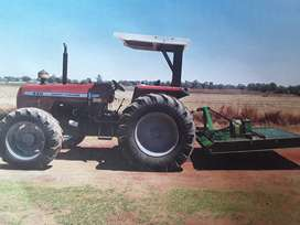 Massey Ferguson 440  Tractor and Falcon Roller Mower