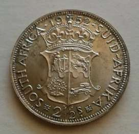 Nicely toned 1952 S.A proof silver 2 1/2 Shillings (mintage 1500)