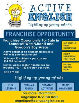 Franchise Opportunity NOT TO BE MISSED!!