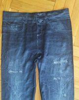 Nowe Legginsy a'la jeans z dziurami