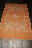 Одеяло полуторное оранжевое теплое зимнее легкое
