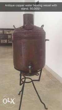antique copper water heating pot 0