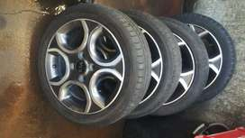 A set of KIA Piccanto rims and treys for sell