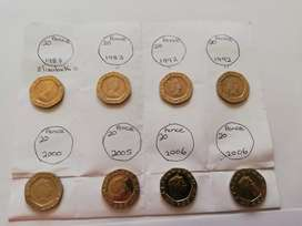 Old silver and copper coins