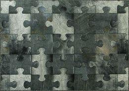 Dywan na wymiar PUZZLE wykładzina nowoczesny wzór szary
