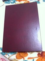 Альбом красный, линия, 100 листов, тетрадь, журнал