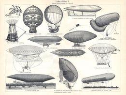 BALONY, STEROWCE, SAMOLOTY reprodukcje XIX w. grafik do wystroju