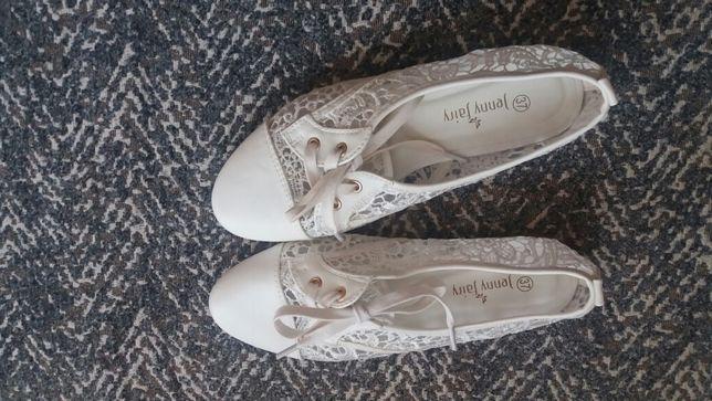 Buciki wiosenne letnie białe 37 Jenny Fairy Sosnowiec - image 2