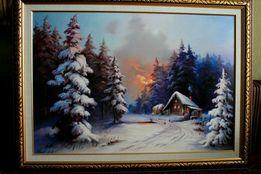 "Картина""Огненый закат"" масло, холст."