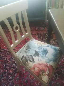 Upholstered diningroom chairs at R750 ea. Brand new.