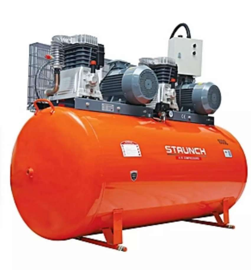 Staunch Air Compressor 50Litres - Orange 0