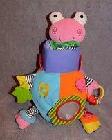 Черепаха цветная-погремушка Biba Toys,большая 40 см.