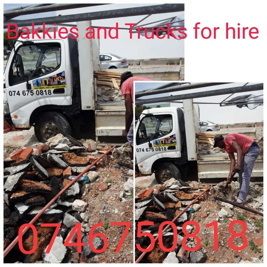 Bakkies and Trucks for hire 0