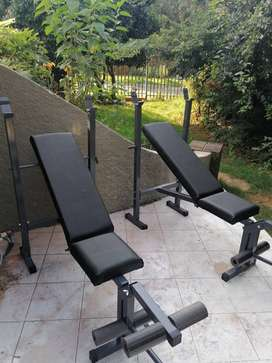 Gym bench with leg extension