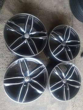 A set of 19 inch rims available