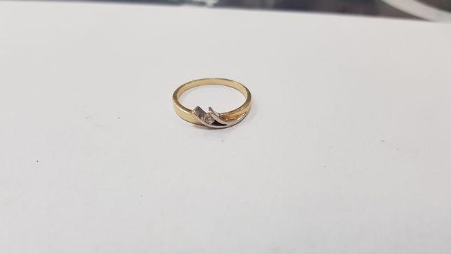 Piękny złoty pierścionek/ 585/ 2,19 gram/ R16/ sklep Gdynia/ Gdynia - image 6