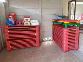 Kiddies stackable beds (stretchers)