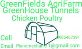 Greenhouse Tunnels and Chicken Poultry for sell