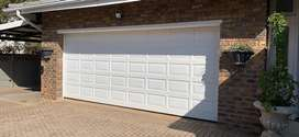 Garage door double solid wood automated