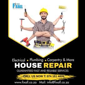Professional house repair by Fixall Services